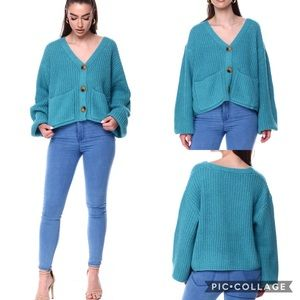 Favlux Chunky Knit Button Down Cardigan